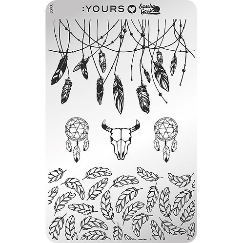 :YOURS PLATE YLS23 - Gorgeous Gypsy LOVES SASCHA
