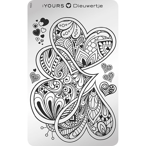 :YOURS PLATE YLD04 - Queen of Hearts LOVES DEE