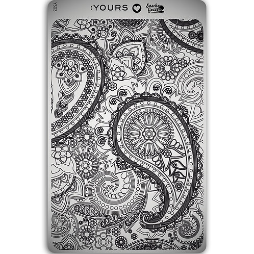 :YOURS PLATE YLS03 - Paisley Heaven LOVES SASCHA