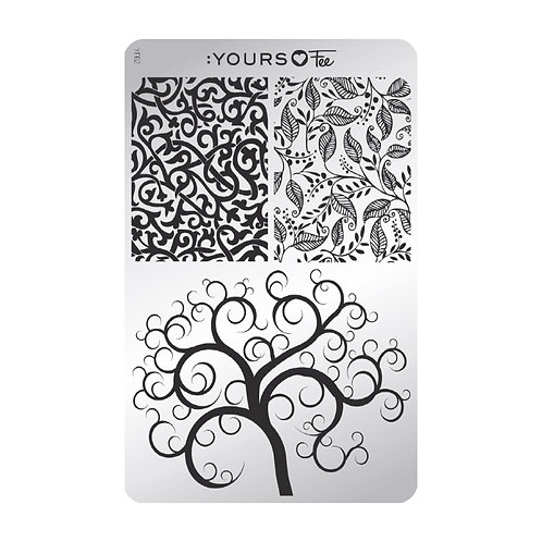 :YOURS PLATE YLF02 - Twisted Garden LOVES FEE