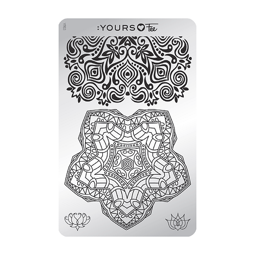 :YOURS PLATE YLF03 - Mindful Mandala LOVES FEE