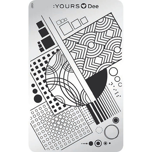 :YOURS PLATE YLD07 - Square LOVES DEE