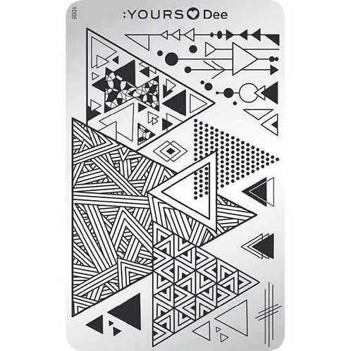:YOURS PLATE YLD08 - Triangle LOVES DEE