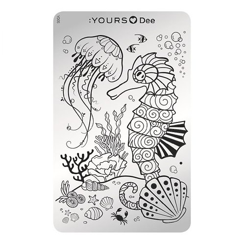 :YOURS PLATE YLD05 - Deep Ocean LOVES DEE