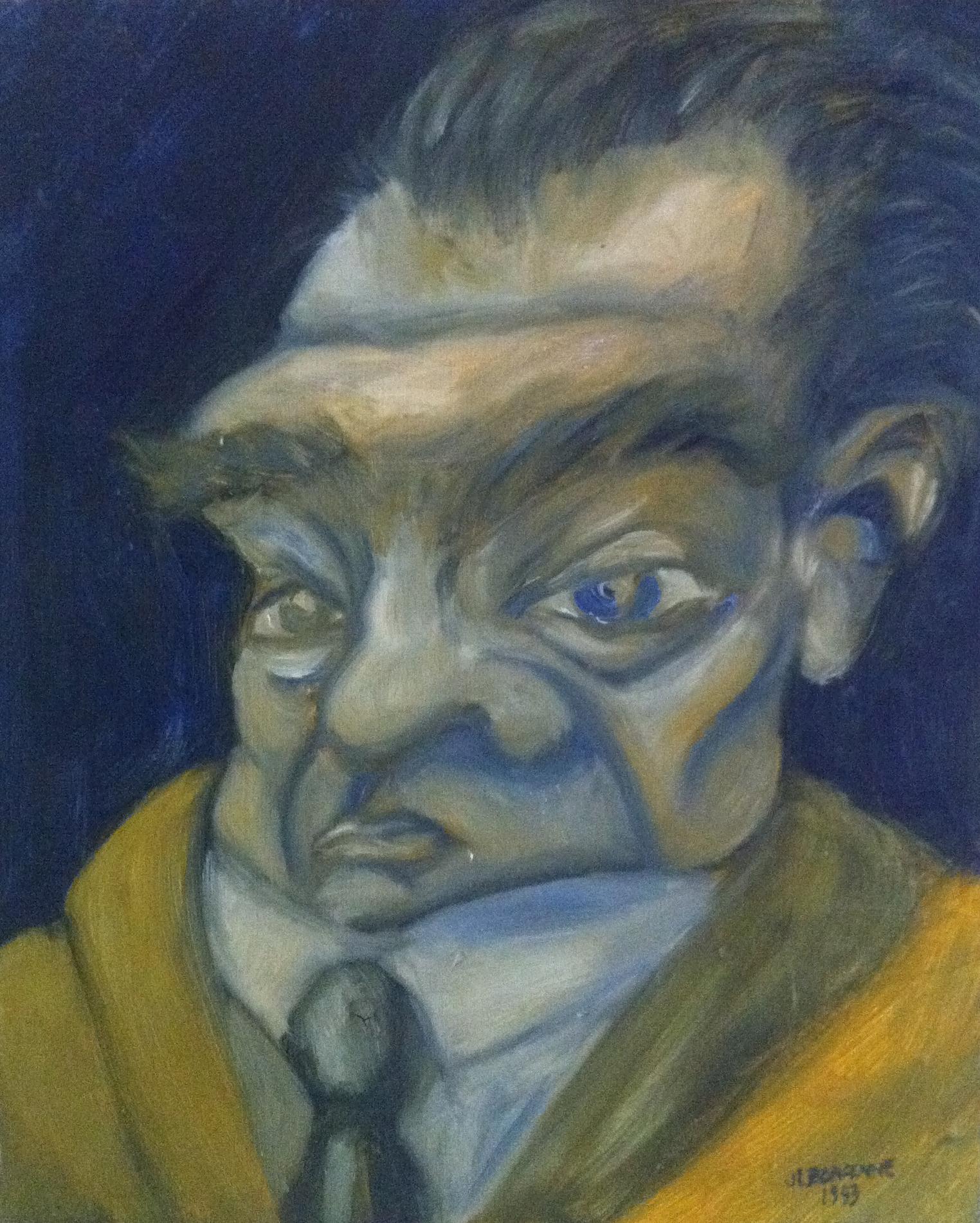 Autoportrait jeune en vieux
