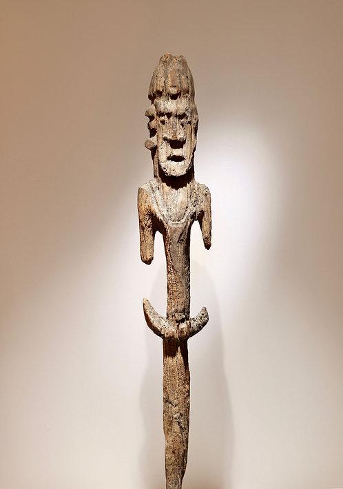 Statue à planter Kanak, Nouvelle Calédonie