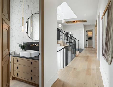Staircase & Half Bath