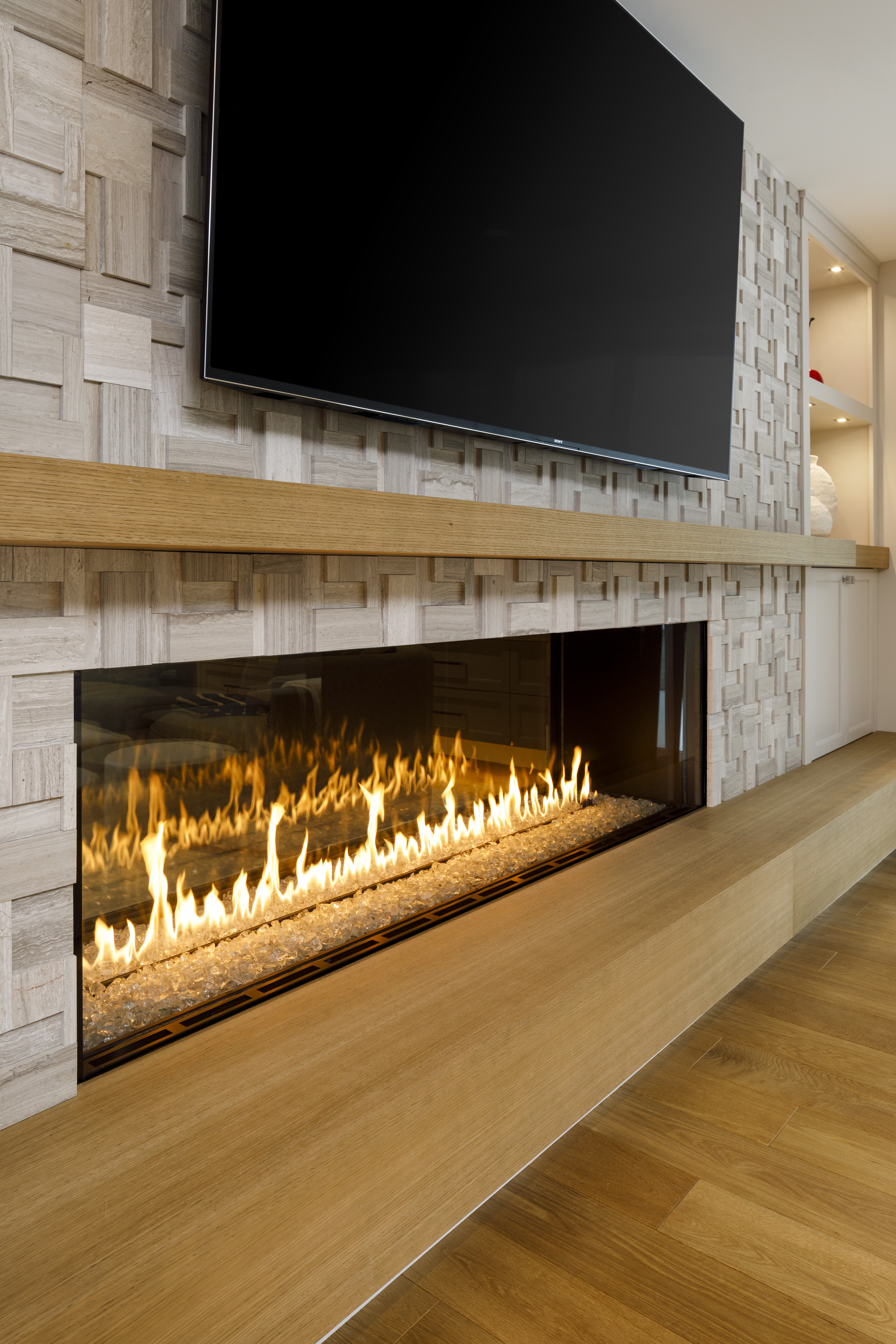 Sunfish Lane Linear Fireplace