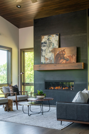 Modern Ranch Family Room