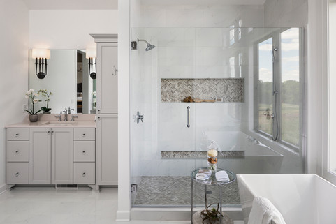 Woodlane Alcove Artisan Owner's Bathroom Shower