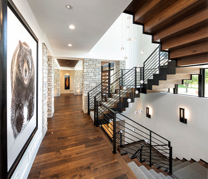 Bohns Point Feature Wall & Stairs
