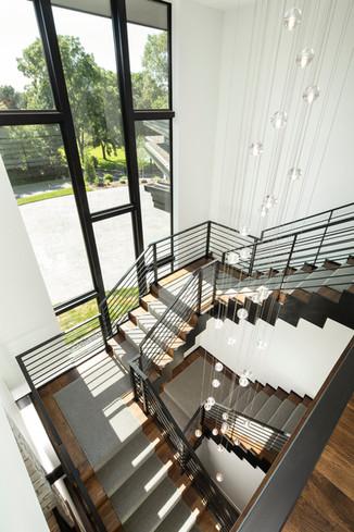 Bohns Point Showpiece Staircase