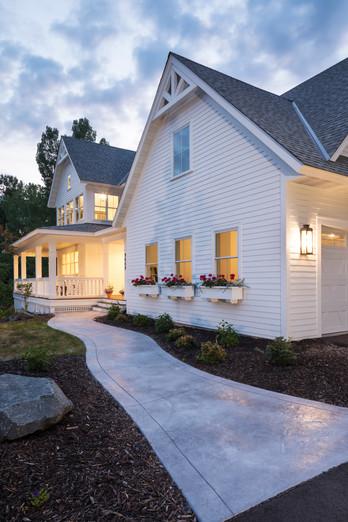 Modern Transitional - Walkway to Front Door