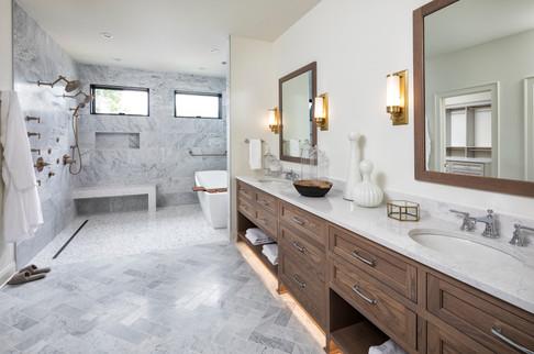 Modern Transitional - Master bath