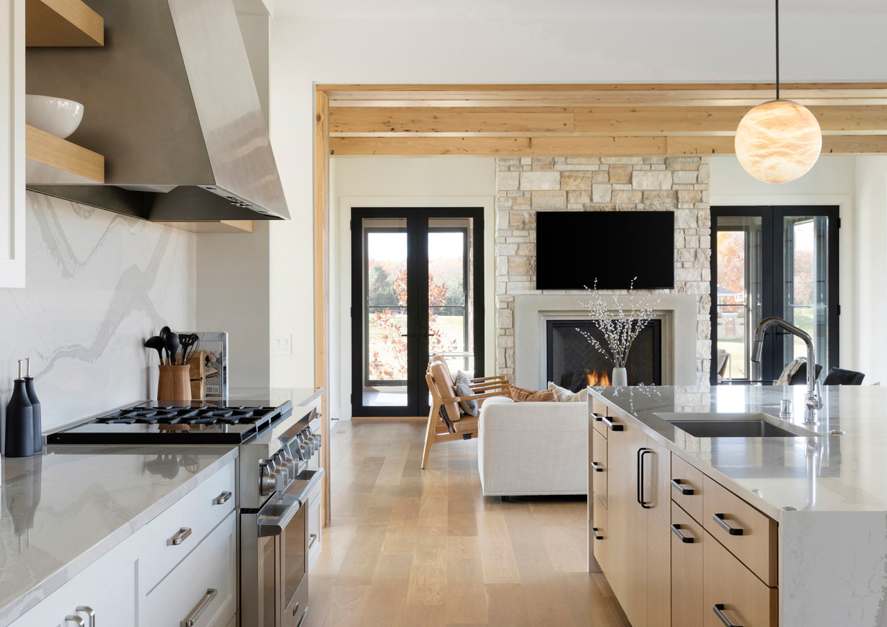 Deer Hill Road Kitchen with Ceiling Detail