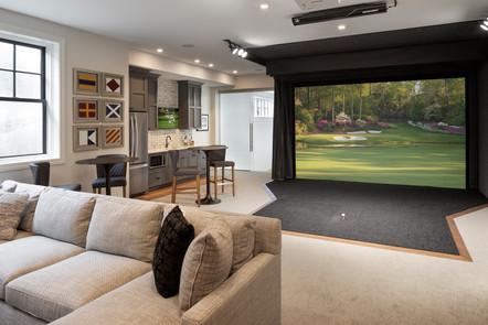 Park Street Golf Simulator, Bar, & Family Room