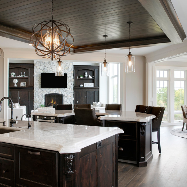 Spring Lake Estate - Kitchen with double islands