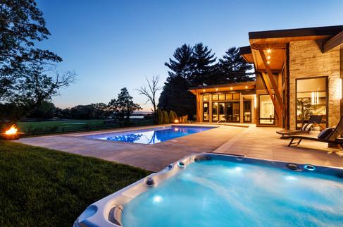 Poolside & Hot Tub