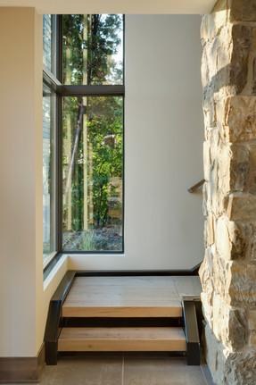 Orchard Circle - Corner Window at Stair Landing