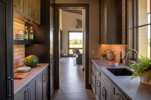 Modern Ranch Pantry to Kitchen