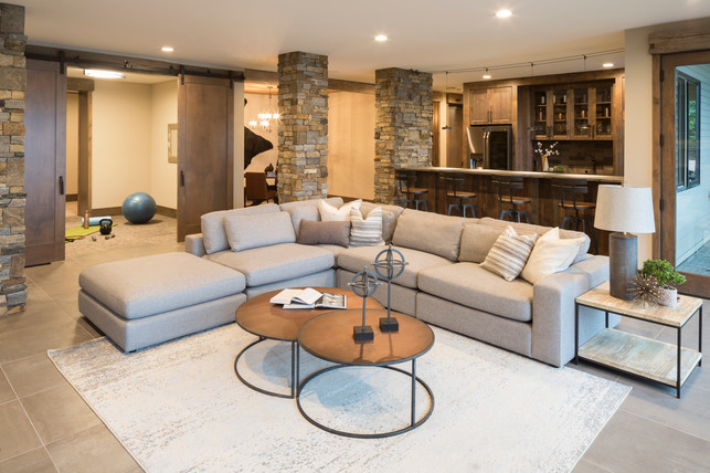 Orchard Circle - Lower Level Family Room, Bar, & Exercise Room