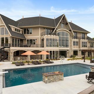 Spring Lake Estate - Poolside Exterior