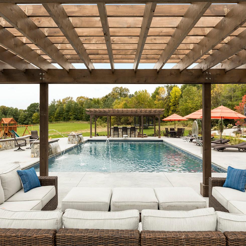 Spring Lake Estate - Poolside Pergola
