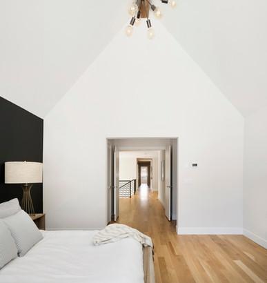 Austrian Pine - Bedroom with vaulted cei