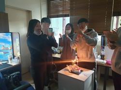 손혜빈학생 생일파티