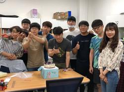 송우진 학생 생일 파티