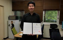 홍동기 학생 한국고분자학회에서 우수논문발표상 수상