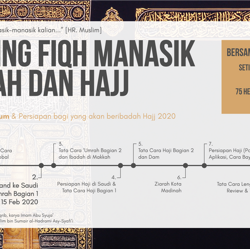 Sharing Fiqh Manasik 'Umrah dan Hajj - Bag 2