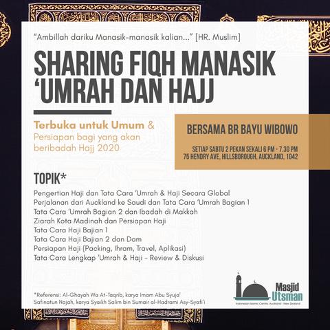 Sharing Fiqh Manasik 'Umrah dan Hajj