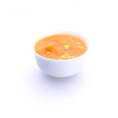 SWEET CORN IN PUMPKIN SOUP