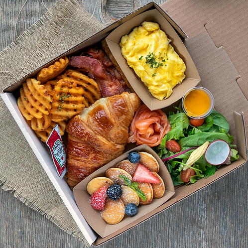 Brunch box #1 - Smoked Salmon