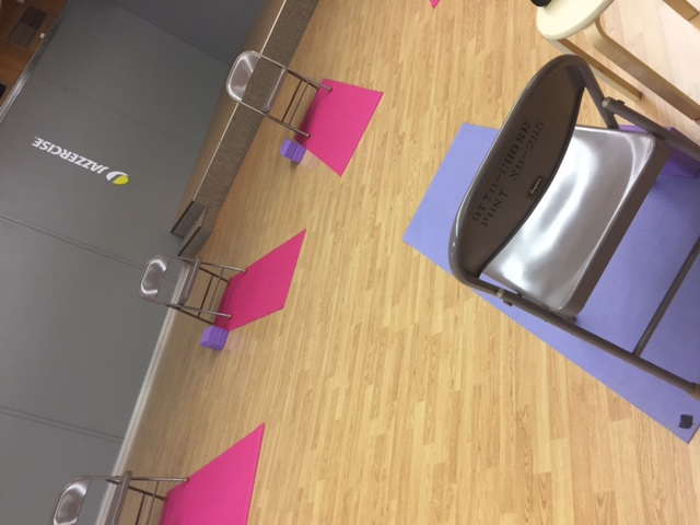 Gentle yoga with chair option