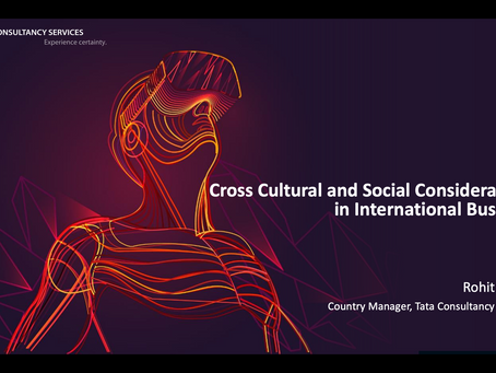 Cross Cultural and Social Considerations in International Business