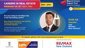 Upcoming webinar: Careers in Real Estate