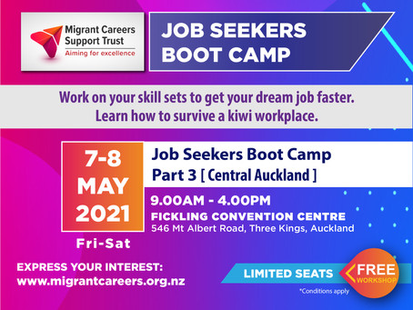 Job Seekers Boot Camp - What to expect