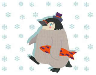 March of the Holiday Penguin