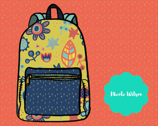 Spring Pastels Backpack Design