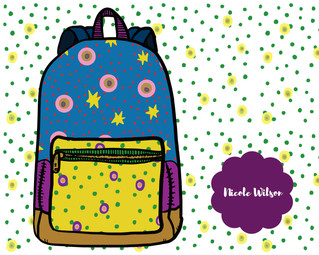 Starry Pop Backpack Design
