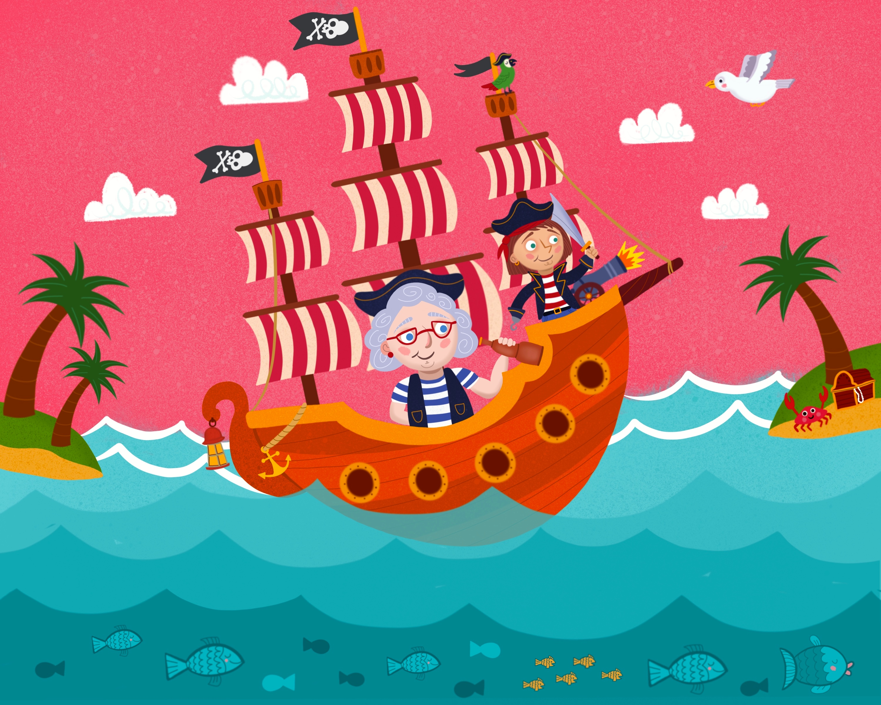 Grandma and Me Pirate Adventure
