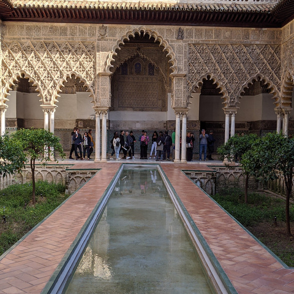 Courtyard of Royal Alcázar of Seville