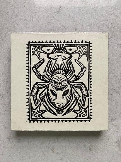 Spider Alien Print on Panel