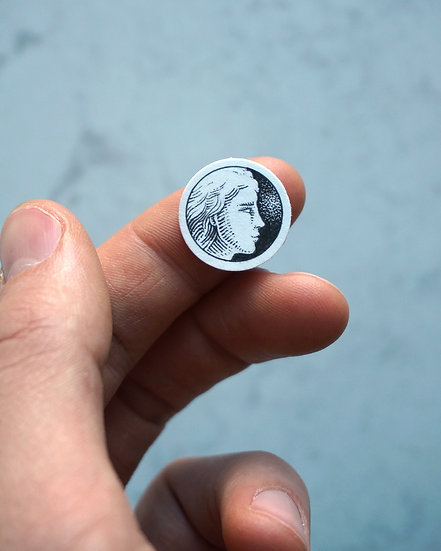 """""""Lady Face"""" Miniature Drawing"""