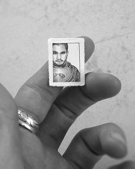"""Jon Snow"" Miniature Drawing"