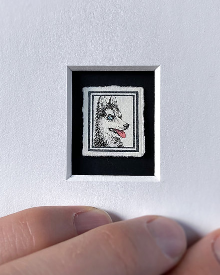 """Husky"" Miniature Drawing"