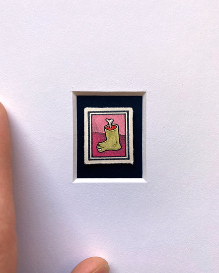 """Footloose"" Miniature Drawing"