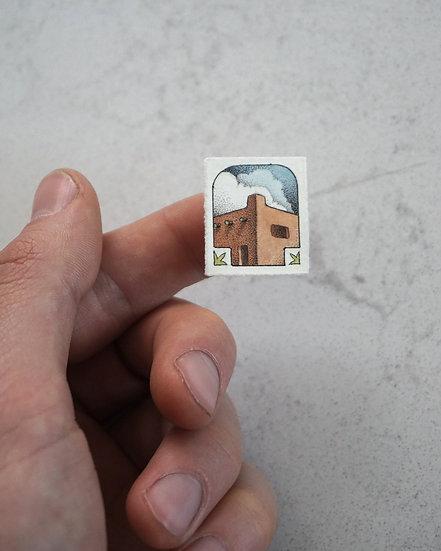 """""""Santa Fe"""" Miniature Drawing"""